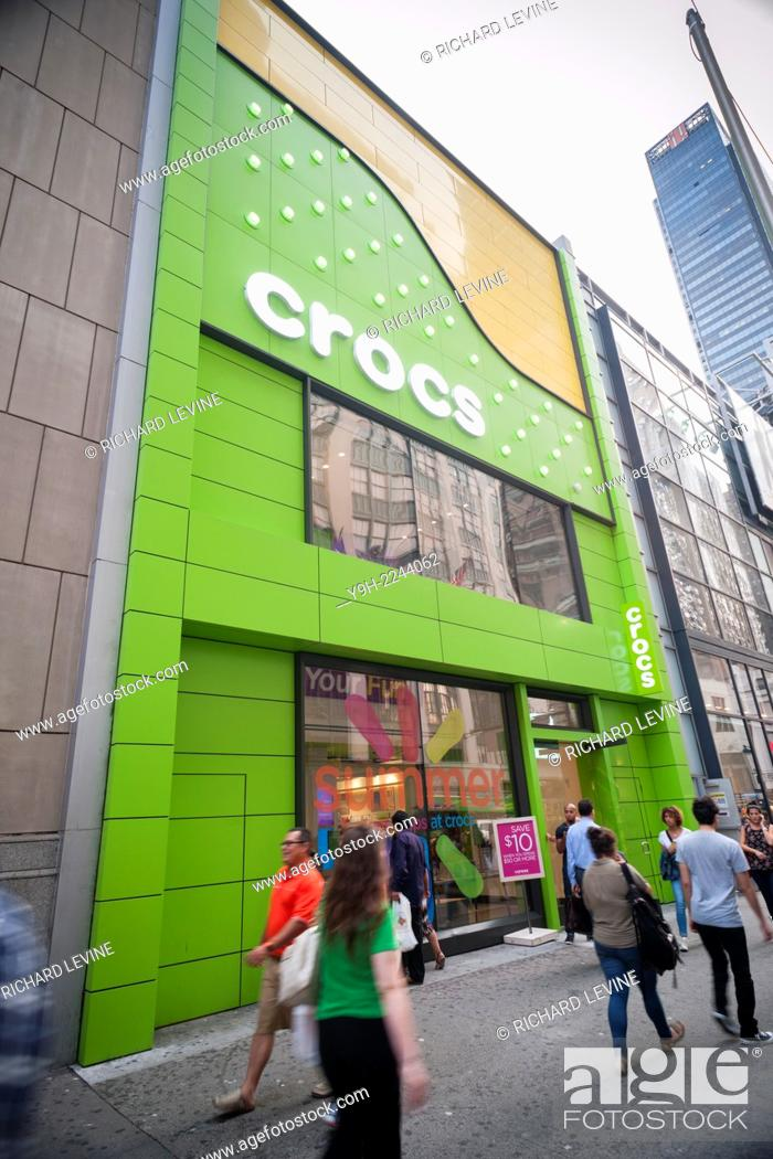 3973d6ff9 Stock Photo - The Crocs store in Herald Square in New York