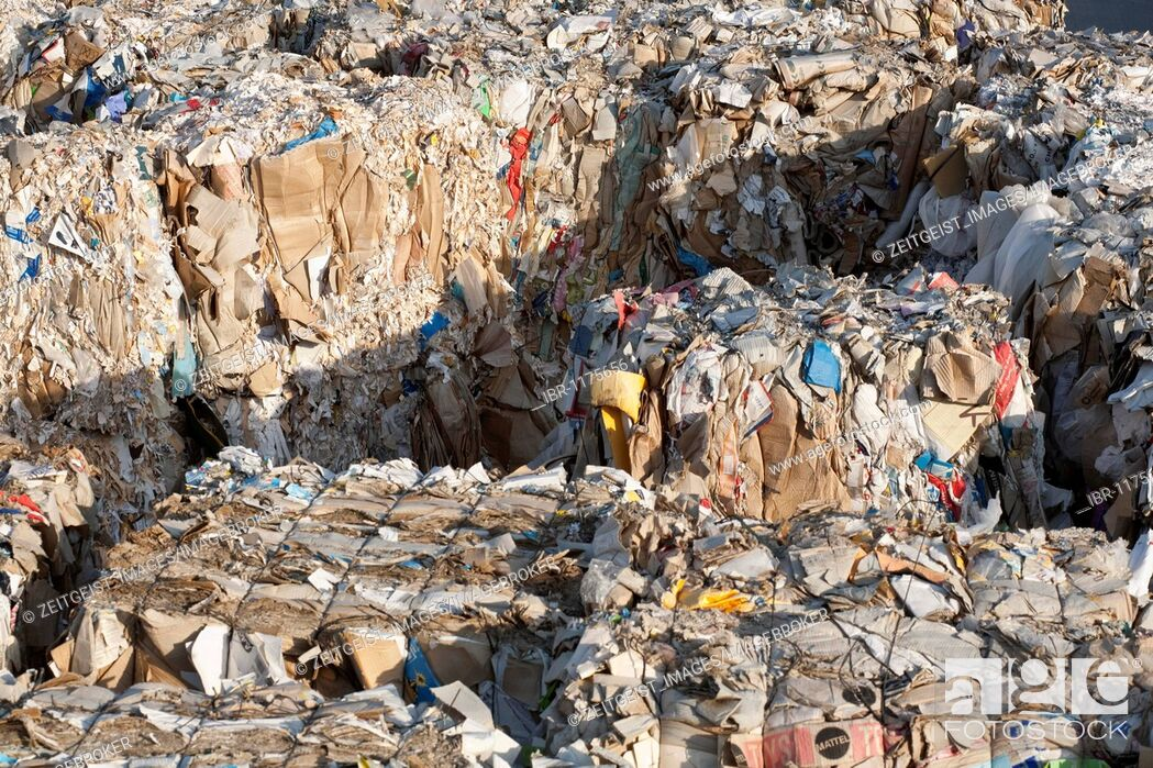Stock Photo: Recycling of waste paper.