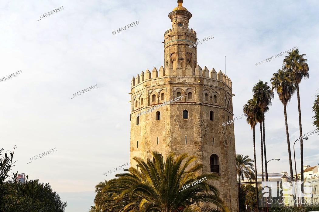 Stock Photo: Torre del Oro, Sevilla, Spain.