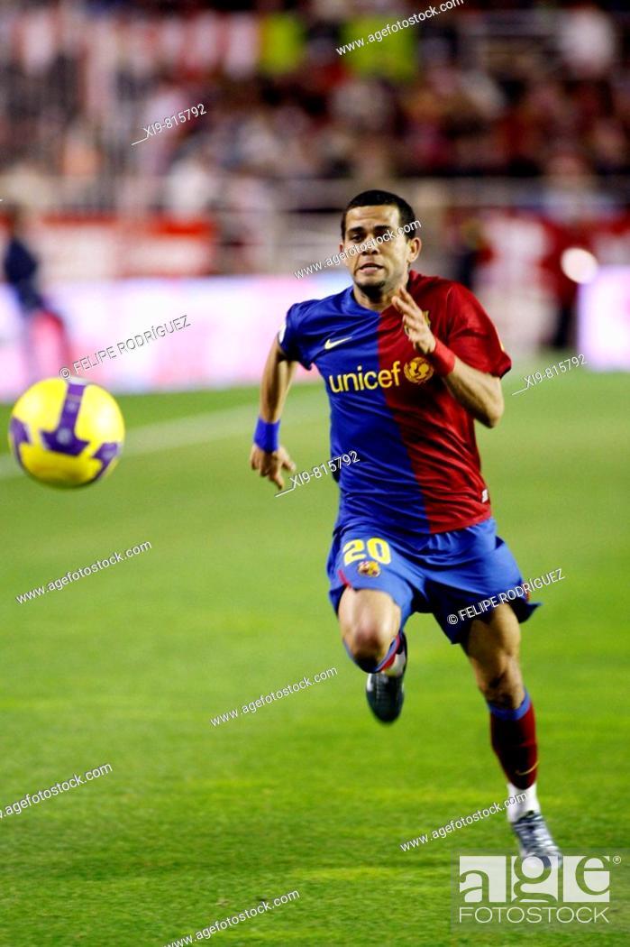 46be52a8a7b Stock Photo - Spanish League 2008-09 (november 29, 2008): Sevilla FC vs. FC  Barcelona. Estadio Ramón Sánchez Pizjuán. Dani Alves (F.C. Barcelona)