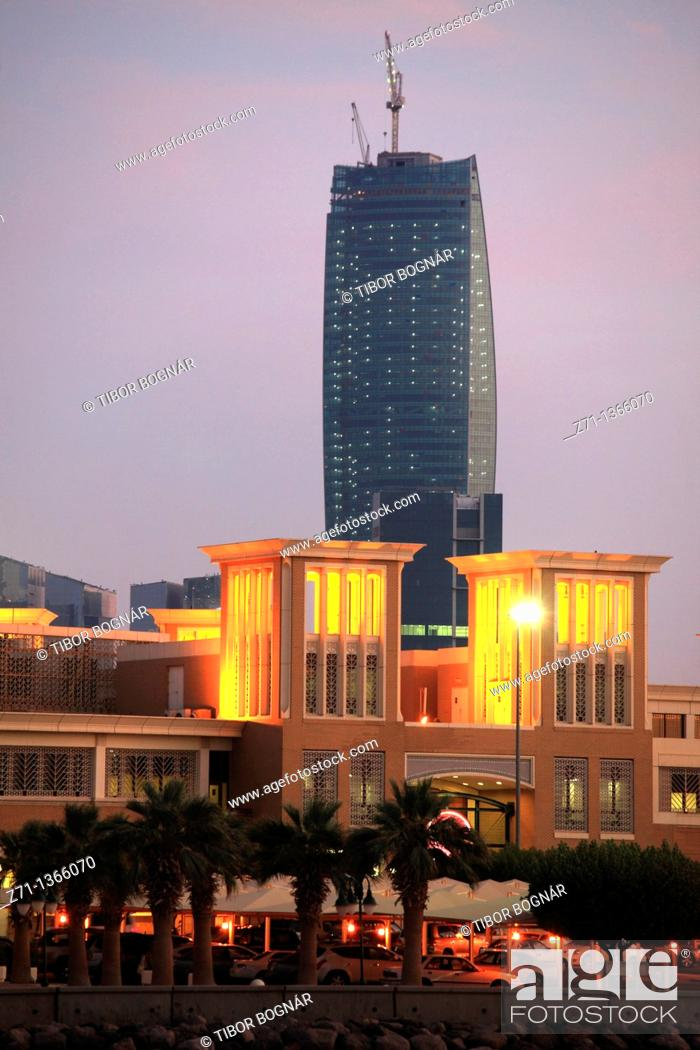 Stock Photo: Kuwait, Kuwait City, Souk Sharq, skyscraper,.