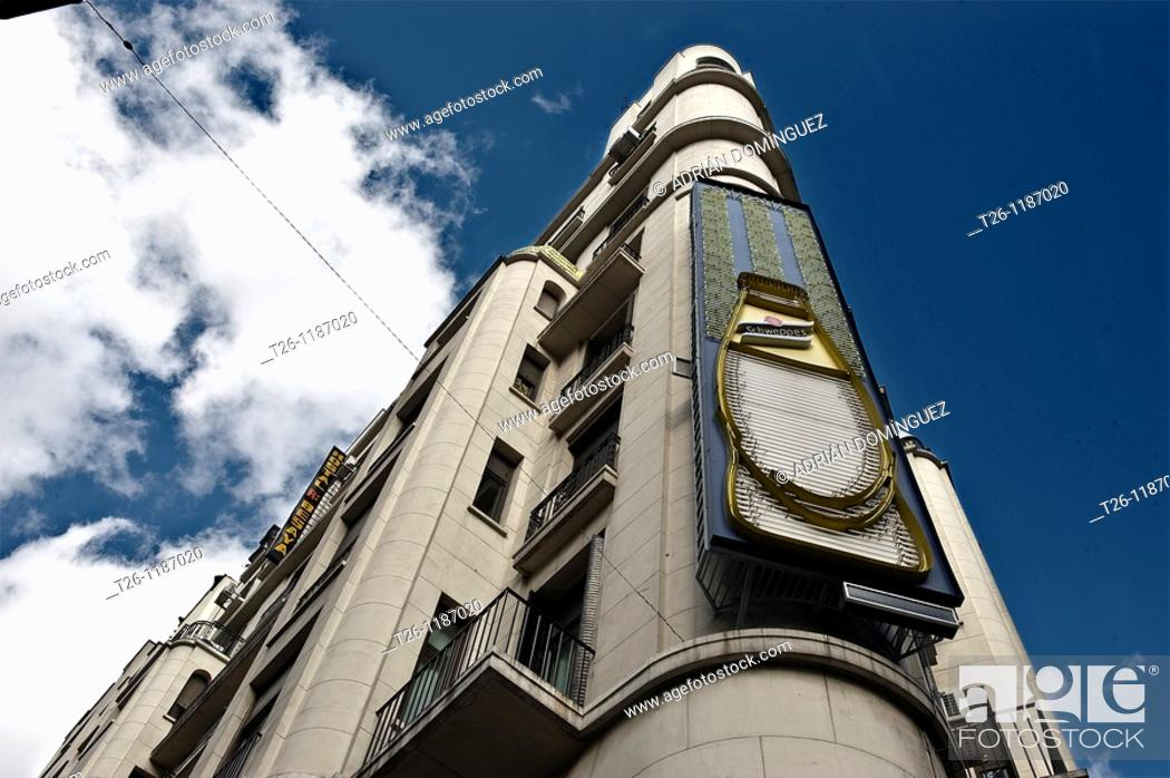 Stock Photo: Gran Via, Madrid  Spain.