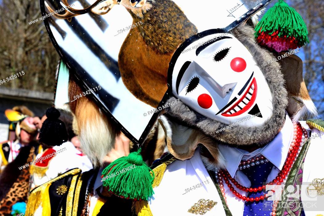 Stock Photo: Felos. Winter masks of Maceda, carnival, Xinzo da Costa, Orense, Galicia, Spain.