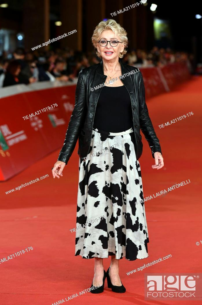 Imagen: Enrica Bonaccorti during the red carpet of film ' Il ladro di giorni ' at the 14th Rome Film Festival, Rome, ITALY-20-10-2019.