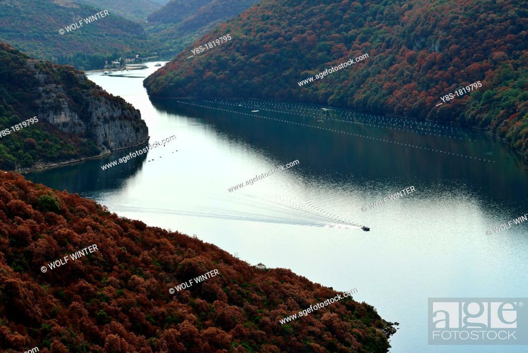 Stock Photo: Lim Bay, Istria, Croatia.
