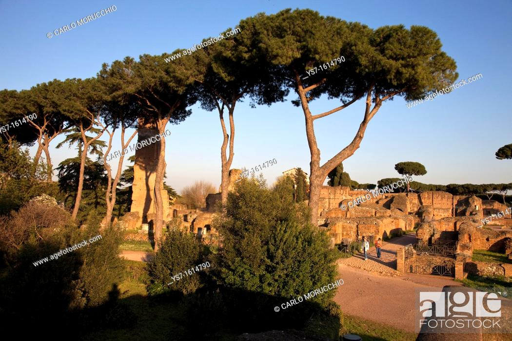 Stock Photo: Circus Maximus ruins, Palatine Hill, Rome, Lazio, Italy, Europe.