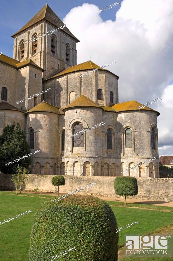 Stock Photo: Abbey church of Saint-Savin sur Gartempe, known as the Romanesque Sistine Chapel, contains many 11th and 12th century murals, UNESCO World Heritage Site, Vienne.