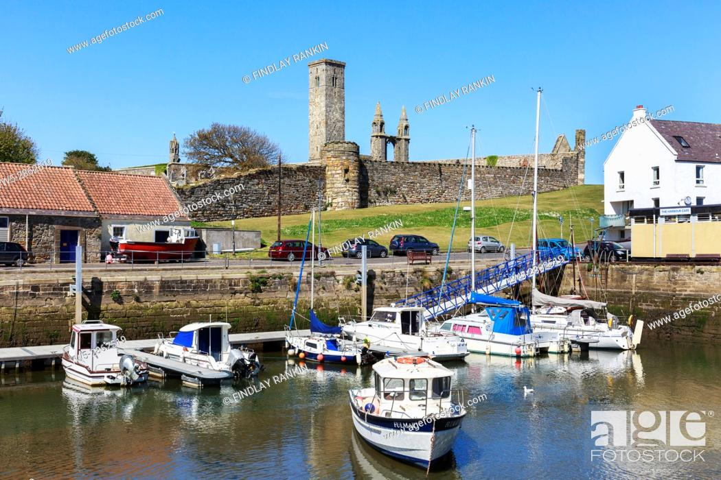 Stock Photo: Harbour at St Andrews, Fife, Scotland.
