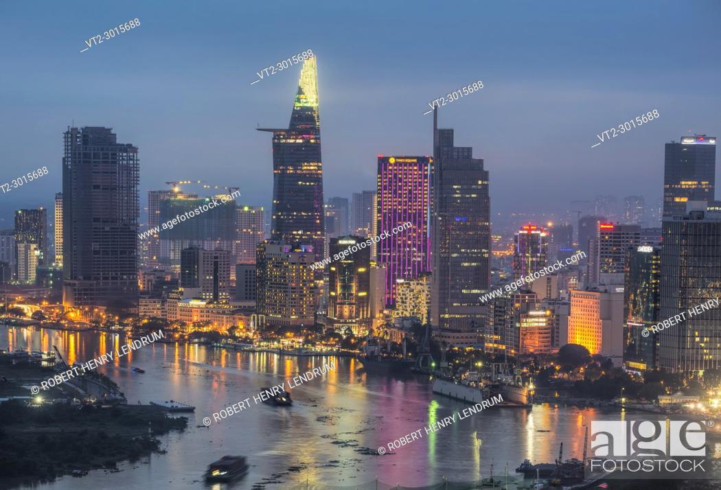 Stock Photo: The new Ho Chi Minh city skyline, Ho Chi Minh, Vietnam.