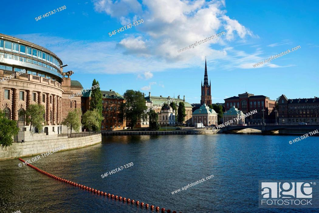 Stock Photo: Schweden, Stockholm, Reichstag.