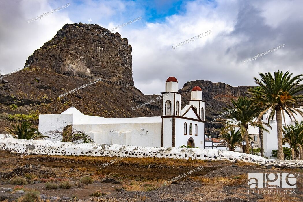 Stock Photo: Parish church was builit in 1874, Agaete, Gran Canaria, Spain.