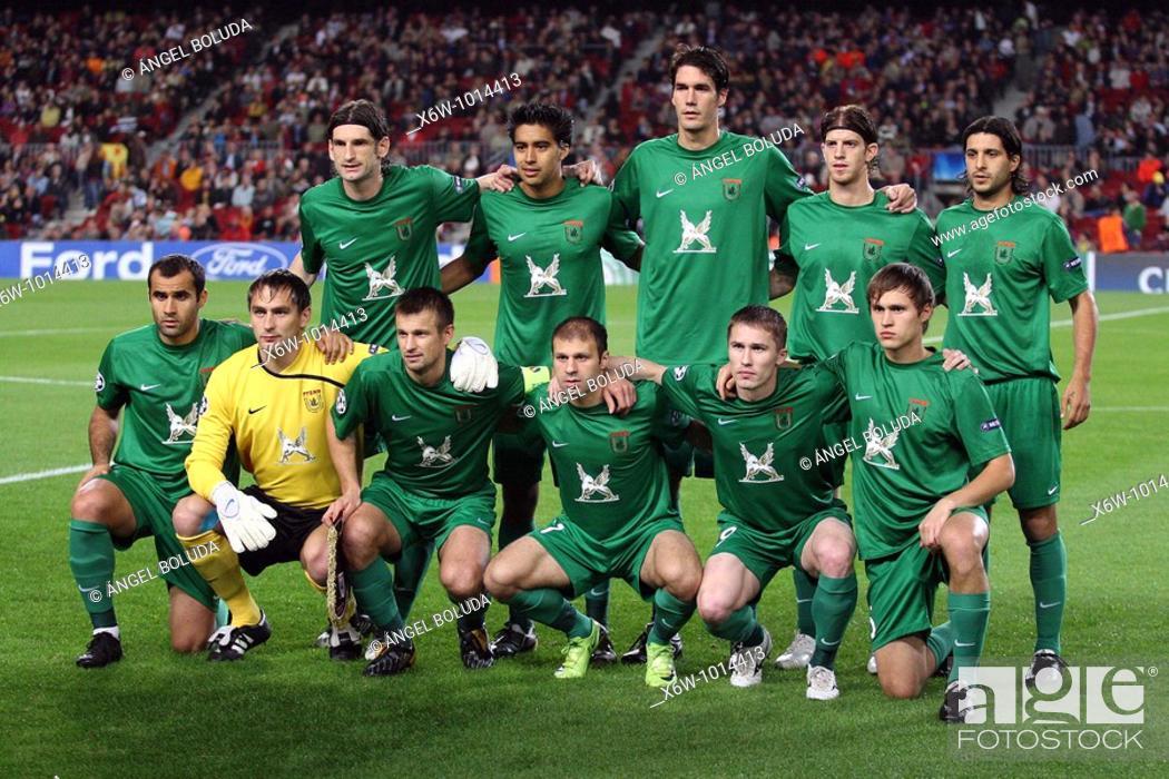 Stock Photo: Barcelona, Camp Nou Stadium, 20/10/09, UEFA Champions League, FC Rubin Kazan.