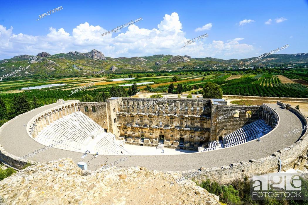 Stock Photo: Aspendos amphitheater. Ancient Greece. Asia Minor. Turkey.