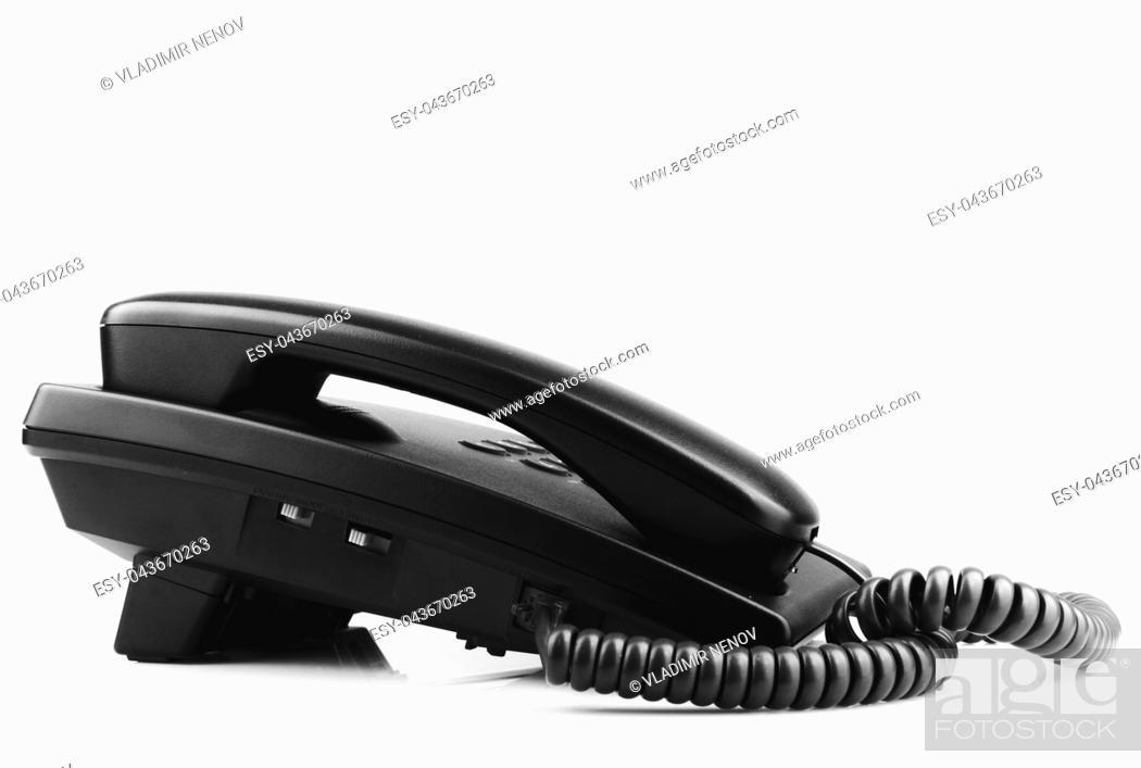 Imagen: Telephone Isolated On White Background.