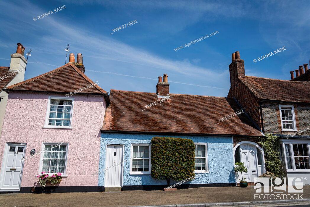 Photo de stock: Portchester, picturesque village in Hampshire, England, UK.