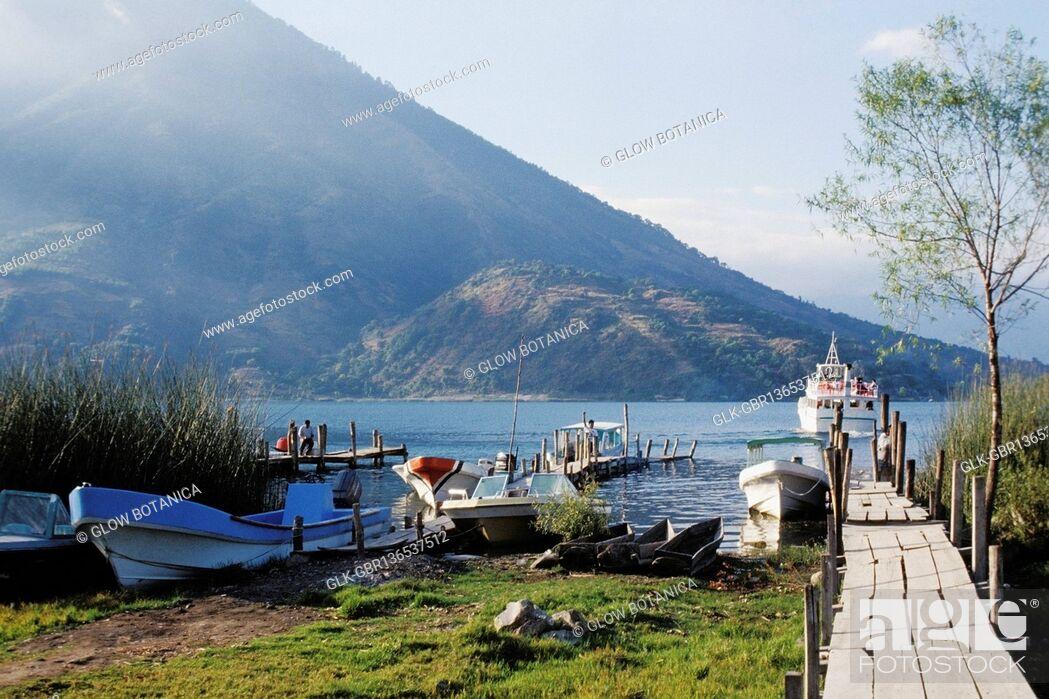 Stock Photo: Boats at a riverside.