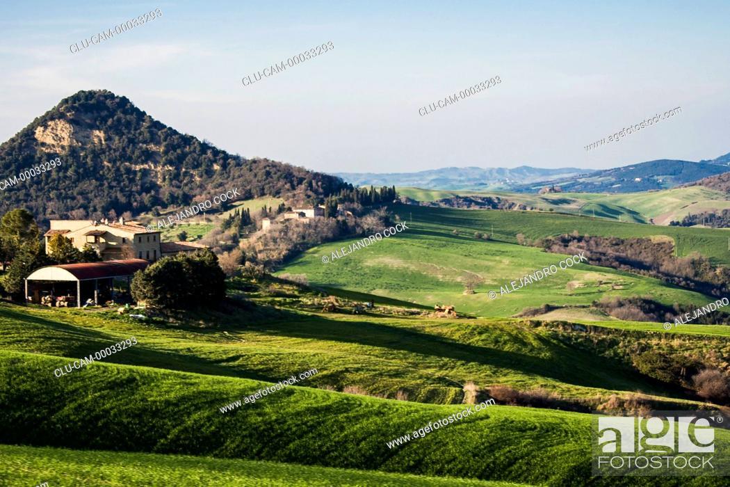 Stock Photo: Landscape of Tuscany, Florence, Italy, Western Europe.