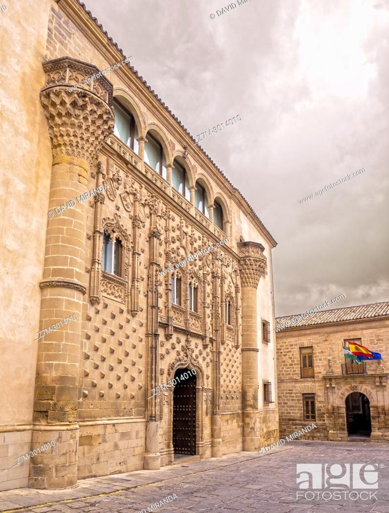 Stock Photo: Palacio de Jabalquinto. Baeza. Jaén. Andalusia. Spain.