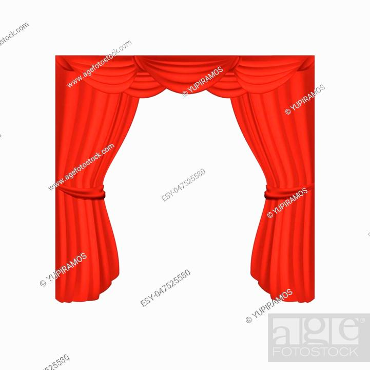 Vecteur de stock: theater courtain show icon vector illustration design.