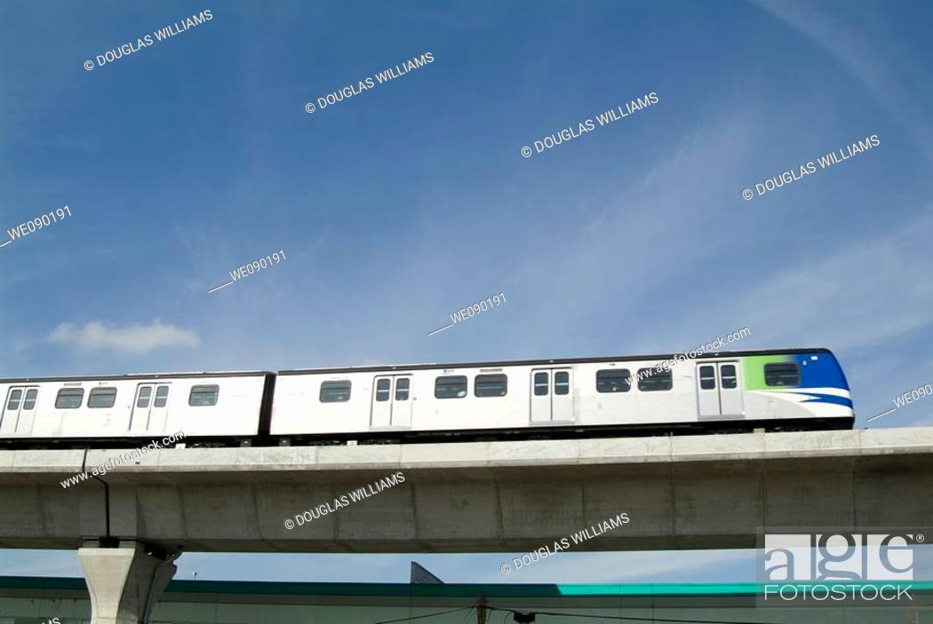 Stock Photo: Sky train, Vancouver, British Columbia, Canada.
