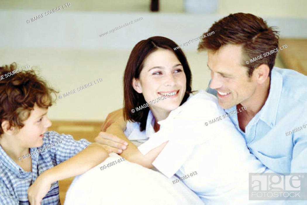 Stock Photo: Young couple with son.