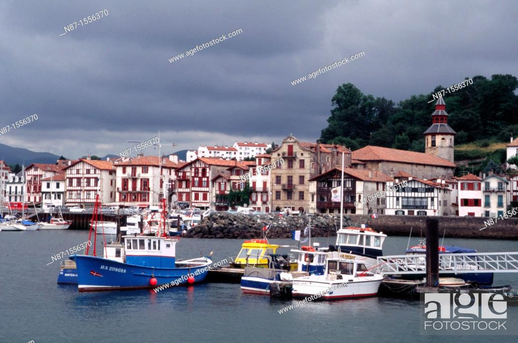 Stock Photo: France, Basque Country, Saint Jean de Luz port.