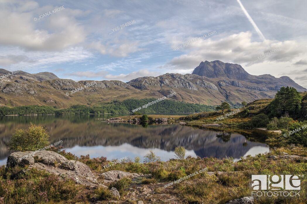 Stock Photo: Loch Marree, Wester Ross, Northwest Highlands, Scotland, United Kingdom.