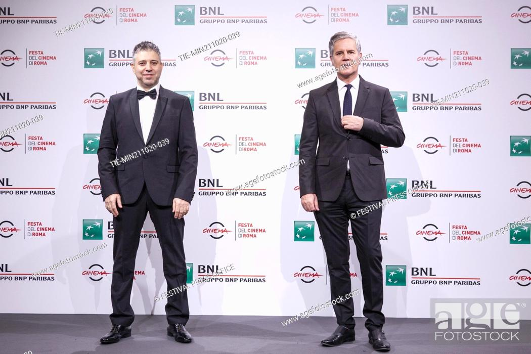 Stock Photo: Evgeny Afineevsky, Juan Carlos Cruz during the photocall of movie' Francesco' at the 15th Rome Film Festival, Rome, ITALY-21-10.-2020.