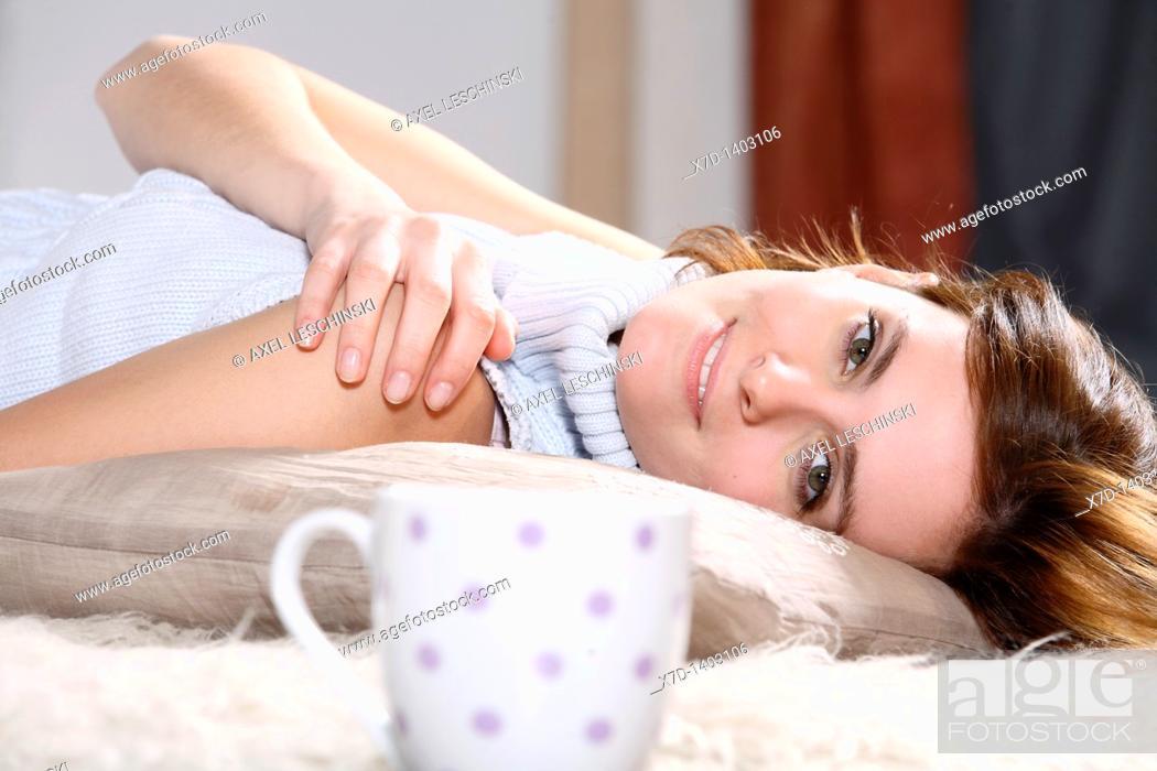 Stock Photo: woman relaxing.