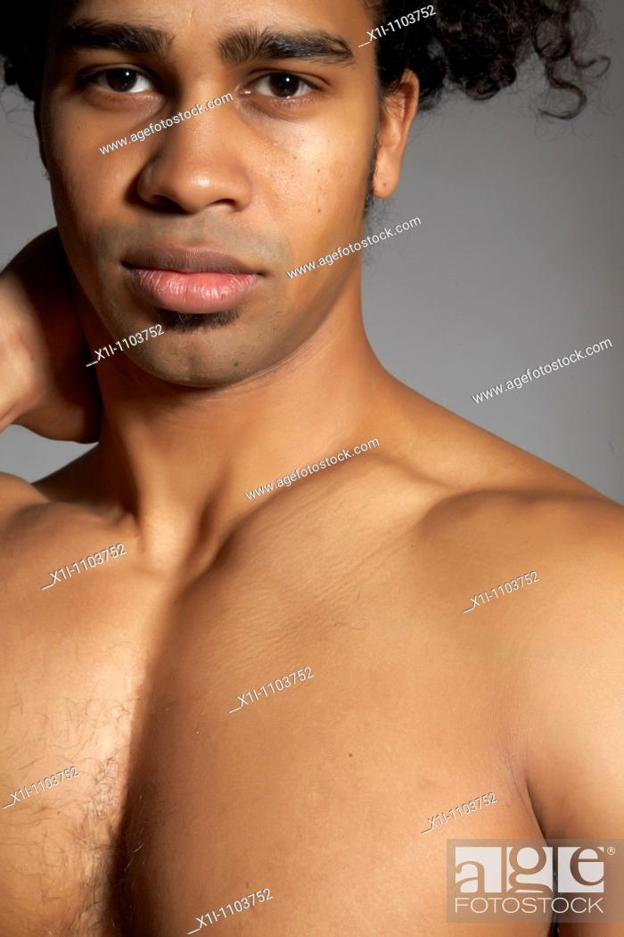 Stock Photo: Muscled man.
