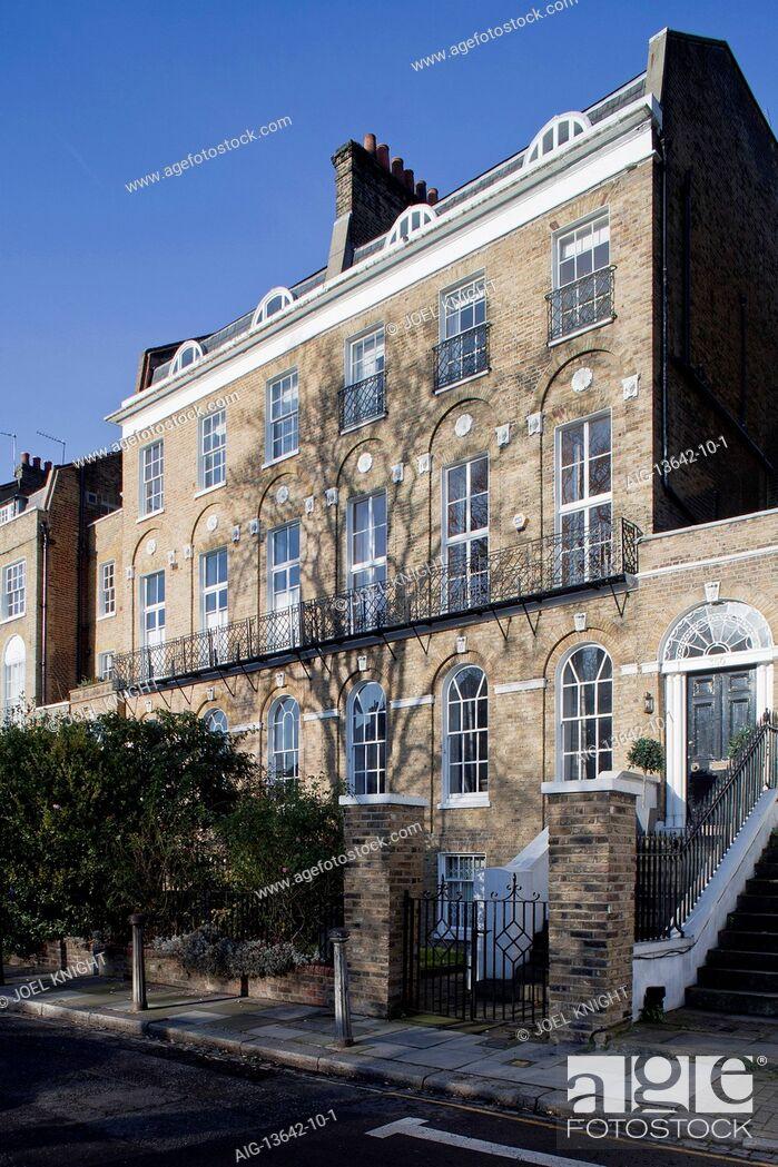 Stock Photo: Exterior of Georgian London town house.