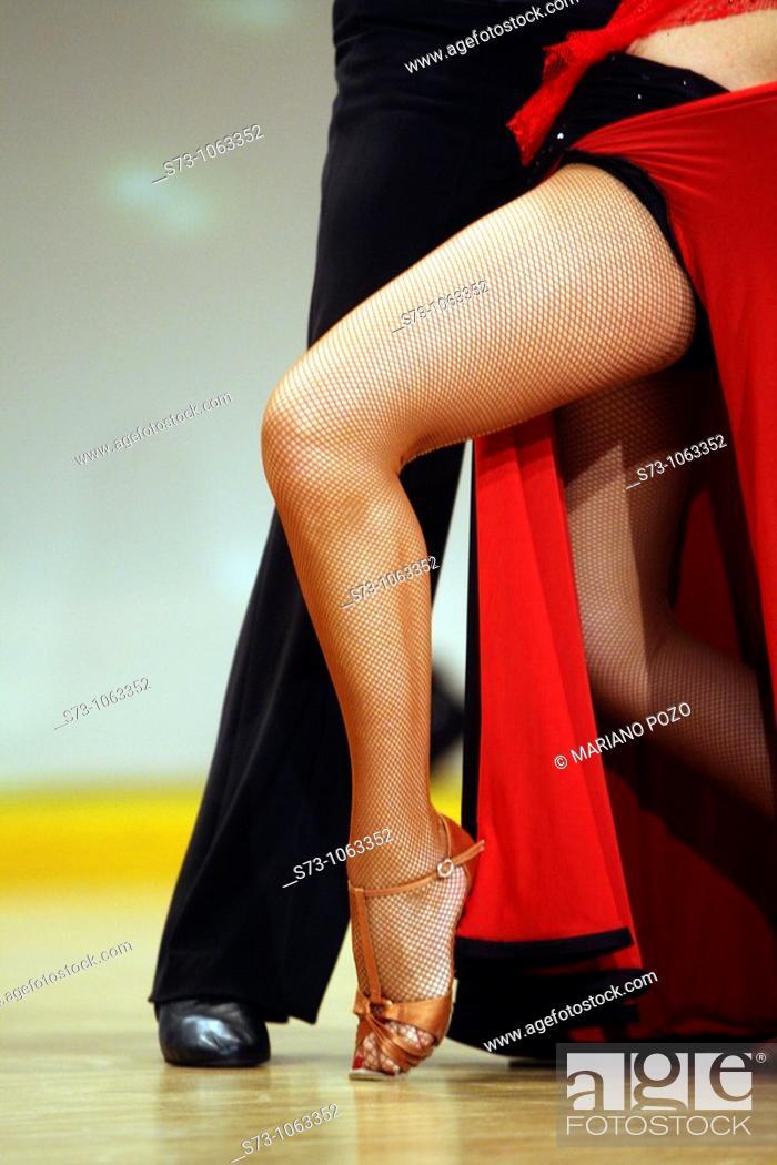 Stock Photo: Tango dancers.