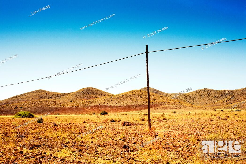 Stock Photo: Landscape in Cabo de Gata, Almeria, Spain.