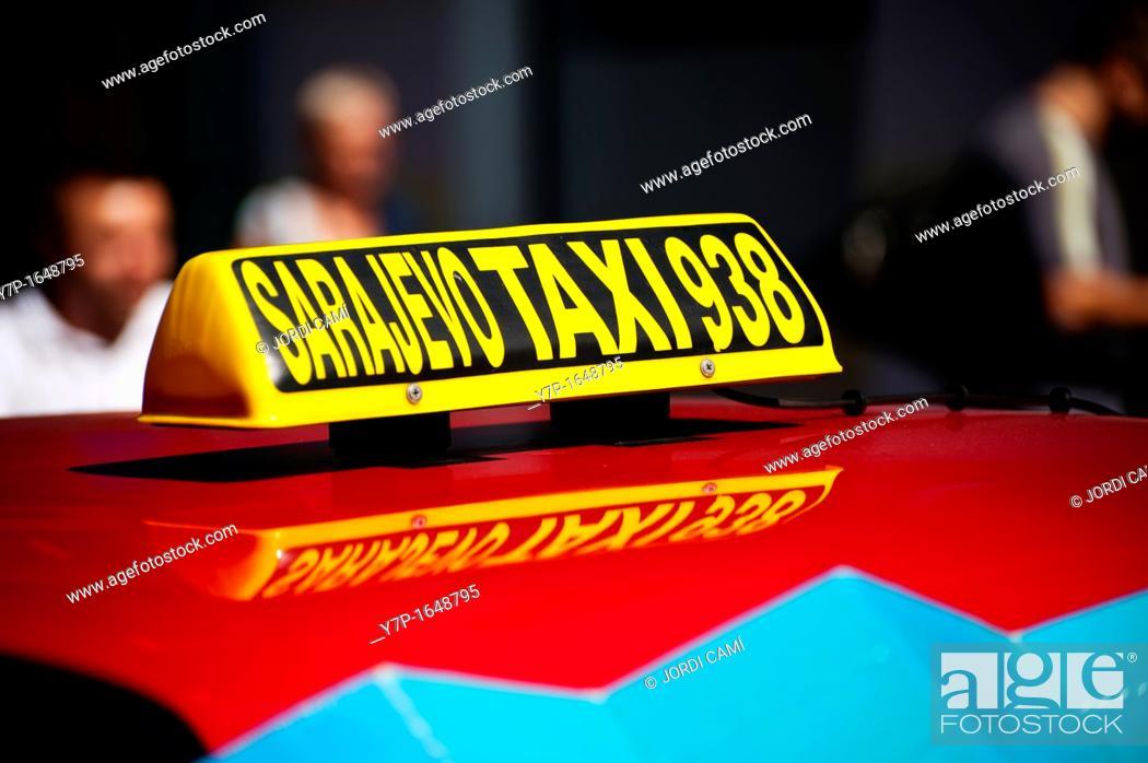 Stock Photo: Taxi  Sarajevo Bosnia- Herzegovina  Balkans Europe.