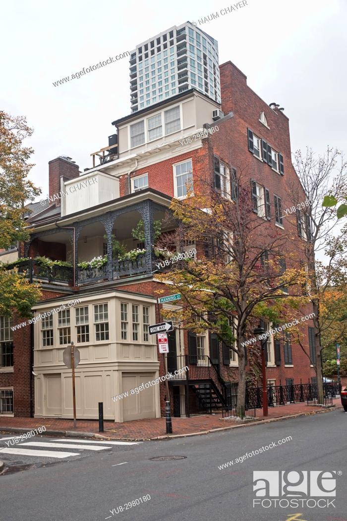 Stock Photo: The Old City neighborhood, Philadelphia, Pennsylvania, USA.