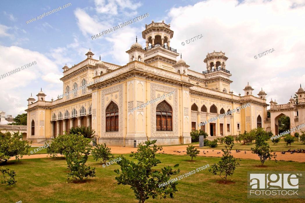 Stock Photo: Facade of a Palace, Chowmahalla Palace, Hyderabad, Andhra Pradesh, India.