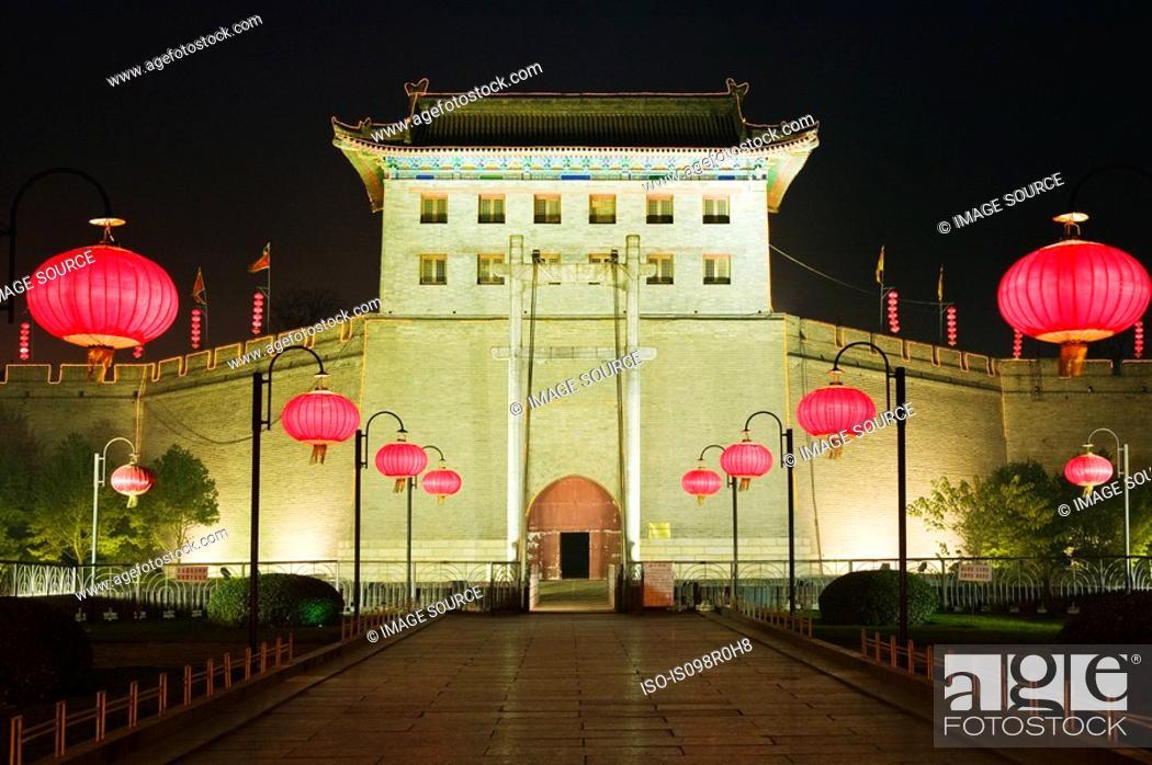Stock Photo: Old town gate xian.