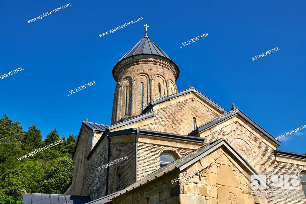 Stock Photo: Pictures and images of St Nicholas Church in the historic medieval Kintsvisi Monastery Georgian Orthodox Monastery complex, Shida Kartli Region.