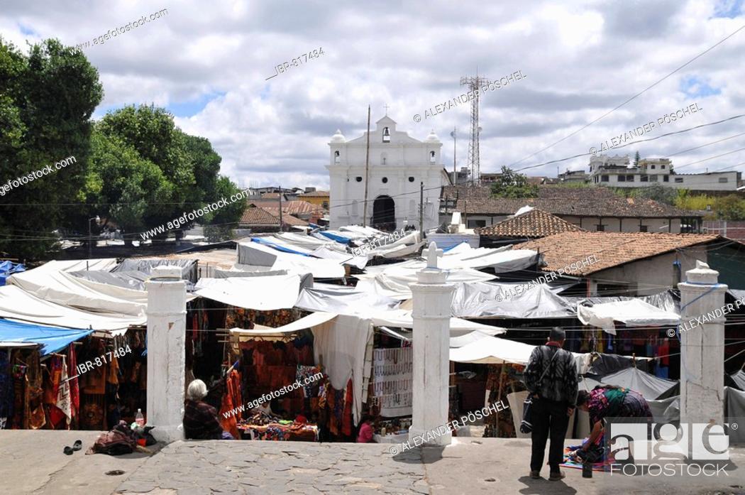 Stock Photo: Santo Tomas Church, Chichicastenango, Guatemala, Central America.