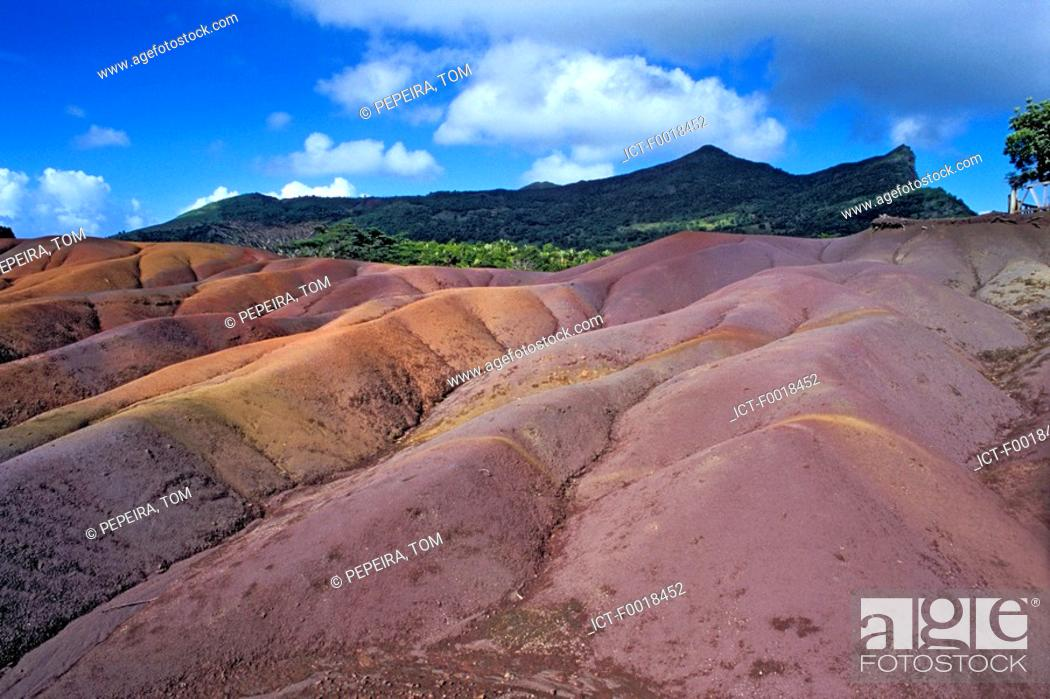 Stock Photo: Mauritius, Chamarel, land of 7 colors.