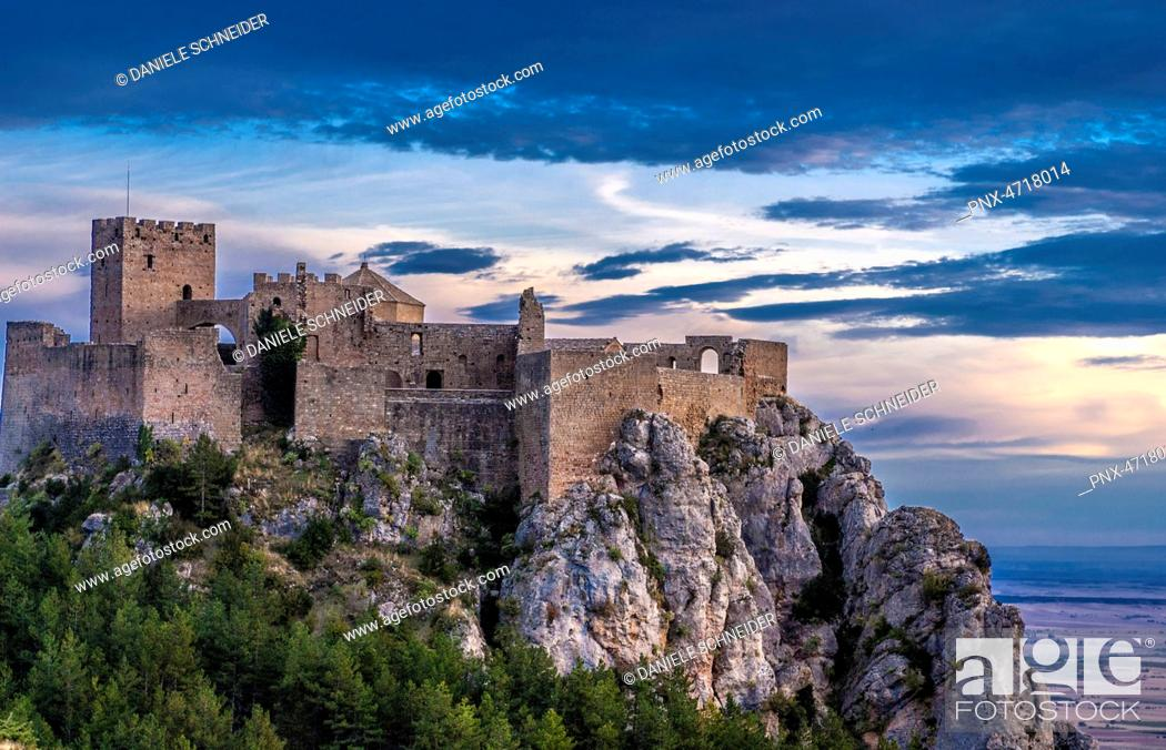 Stock Photo: Spain, Autonomous community of Aragon, province of Huesca, fortress of Loarre (11th-13th century).