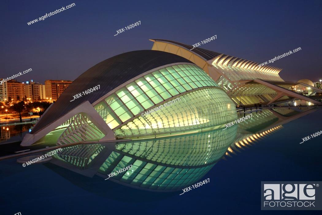 Stock Photo: The Hemisferic, City of Arts and Sciences, Valencia, Spain.