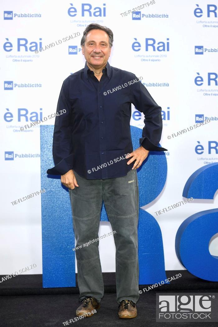 Stock Photo: Mario Tozzi during the Rai programming launch in Milan, ITALY-09-07-2019.