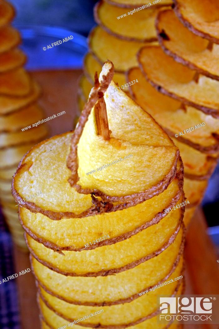 Stock Photo: Coiled chips.