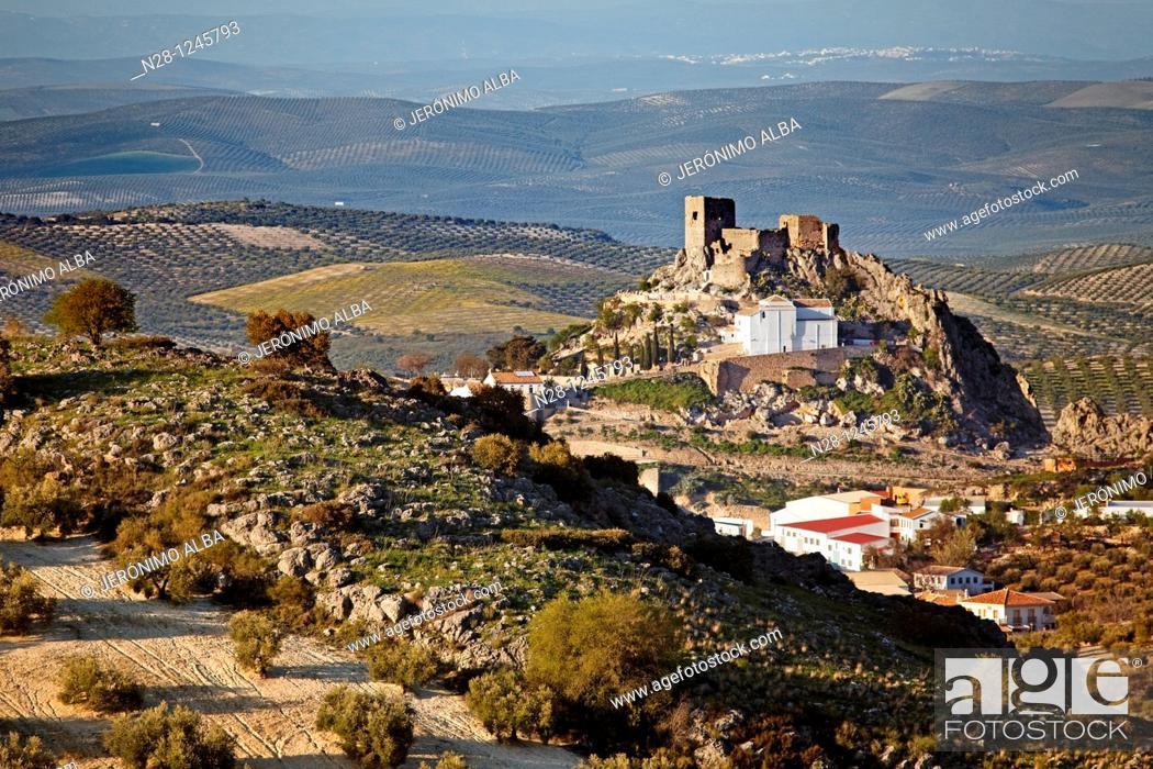 Stock Photo: Castle of Luque. Cordoba, Andalusia, Spain.