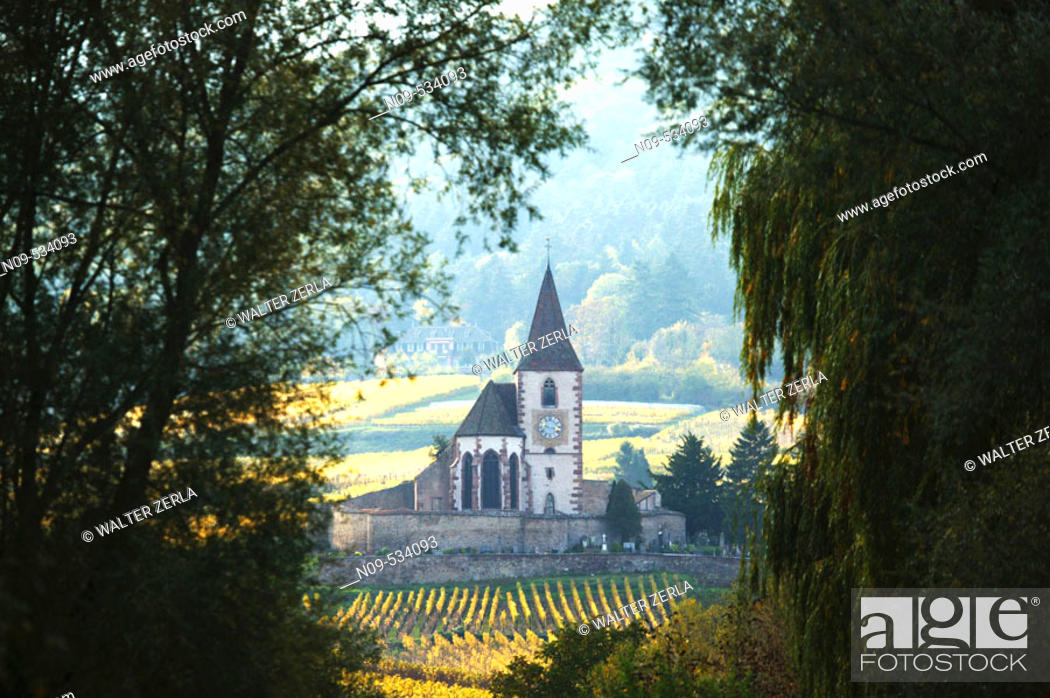 Stock Photo: Hunawihr. Alsace, France.