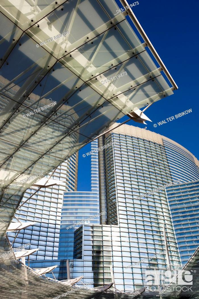 Stock Photo: USA, Nevada, Las Vegas, CityCenter, glass awning detail.