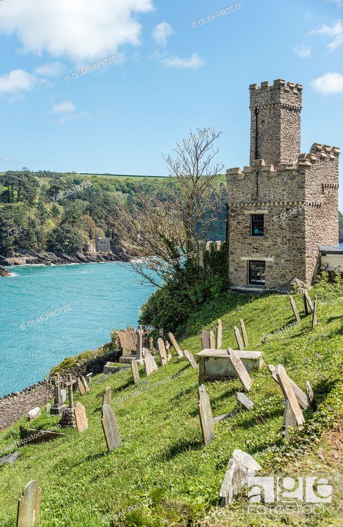 Stock Photo: Dartmouth Castle that guard the mouth of the Dart Estuary in Devon, England.