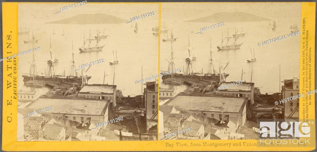 Stock Photo: Bay view, from Montgomery and Union Sts., S.F. Additional title: Pacific coast. Watkins, Carleton E. (1829-1916) (Photographer). Robert N.