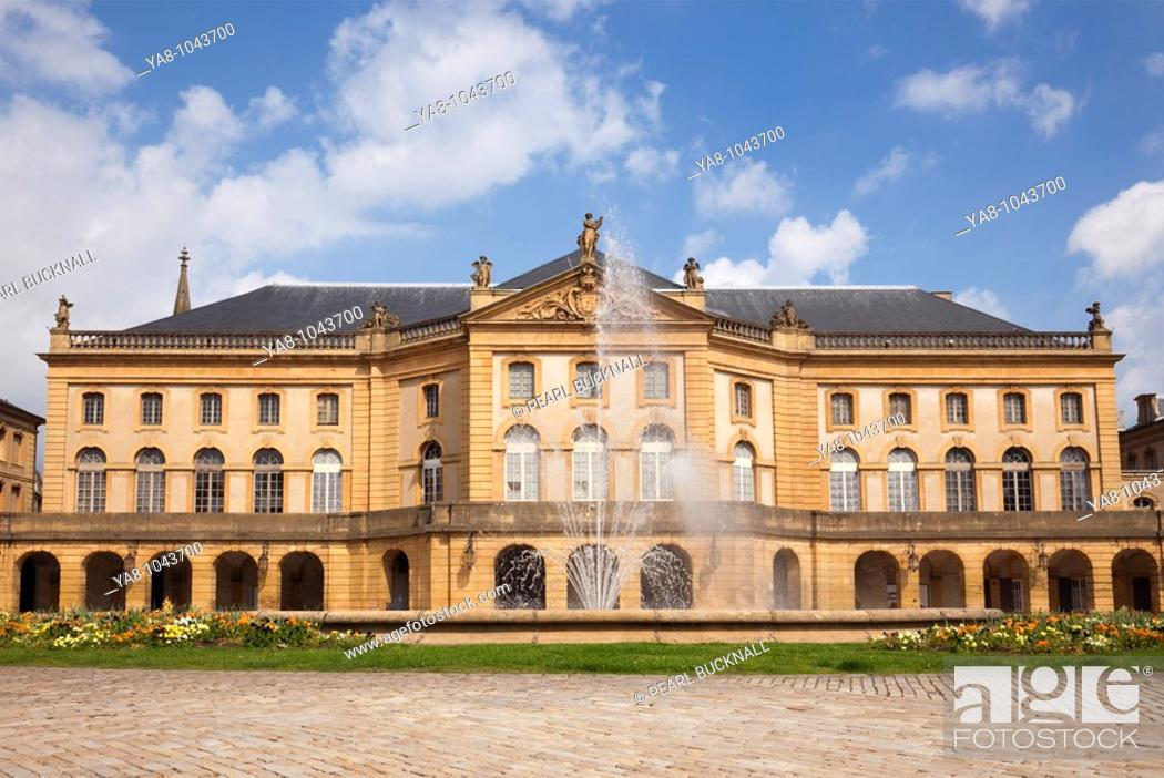 Stock Photo: Metz, Lorraine, France, Europe  Opera Theatre on La Place de la Comedie.